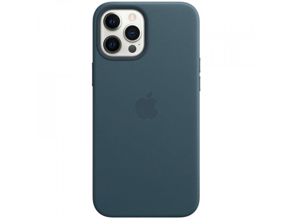 Kryt na mobil Apple Leather Case s MagSafe pro iPhone 12 Pro Max - baltsky modrý