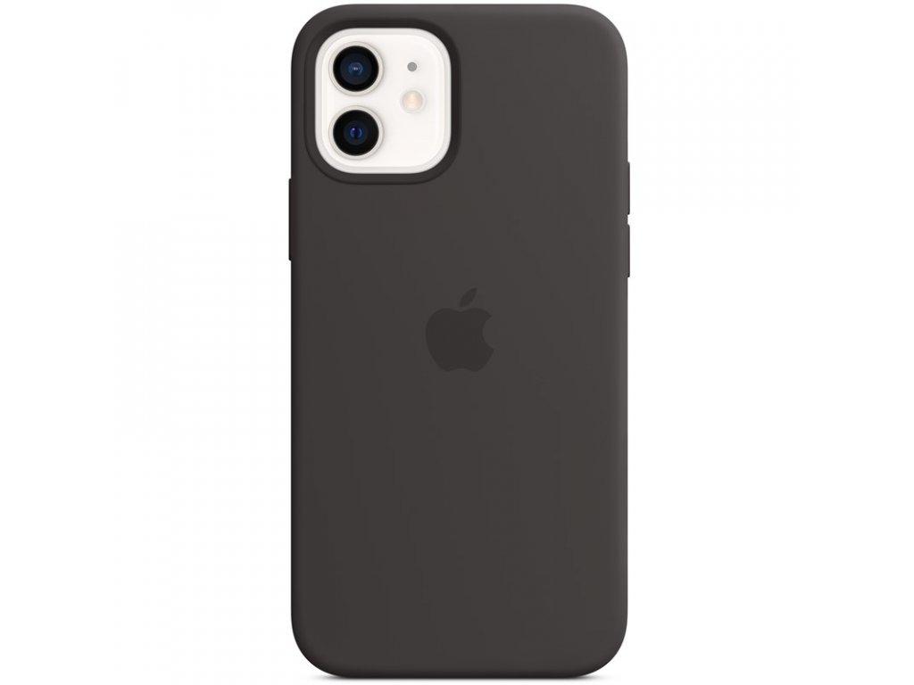 Kryt na mobil Apple Silicone Case s MagSafe pro iPhone 12 mini - černý
