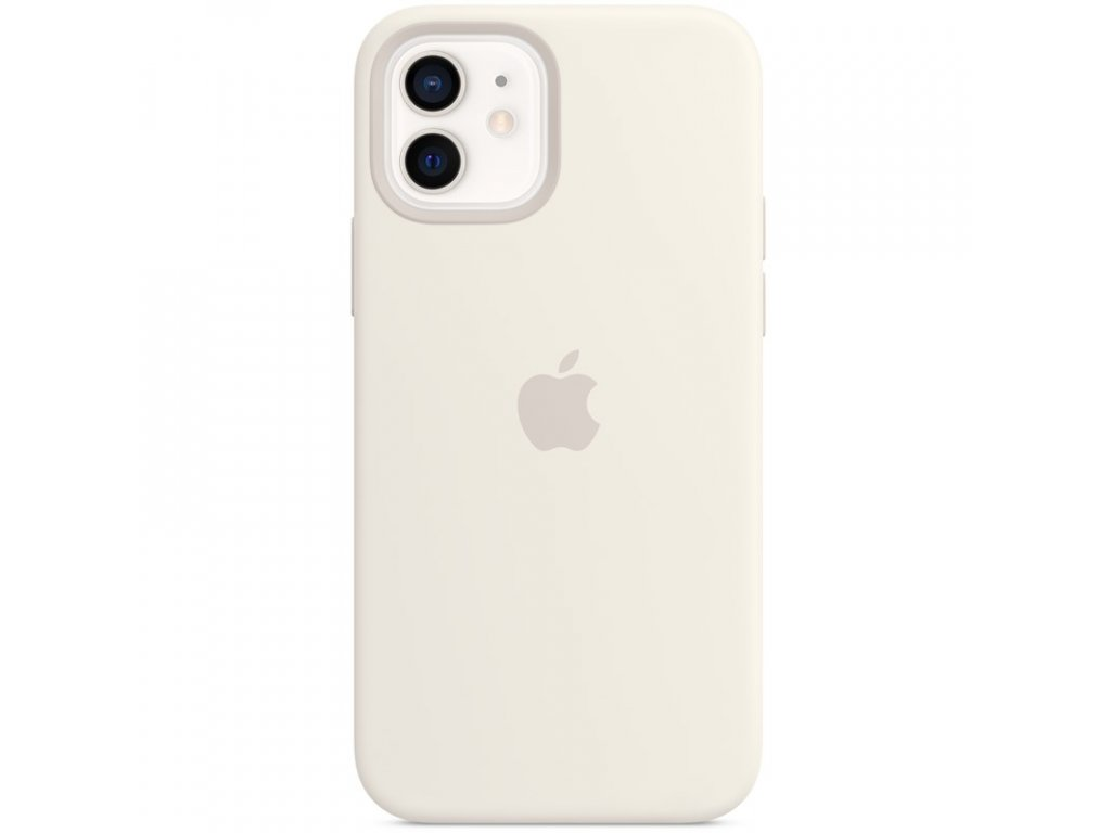 Kryt na mobil Apple Silicone Case s MagSafe pro iPhone 12 a 12 Pro - bílý