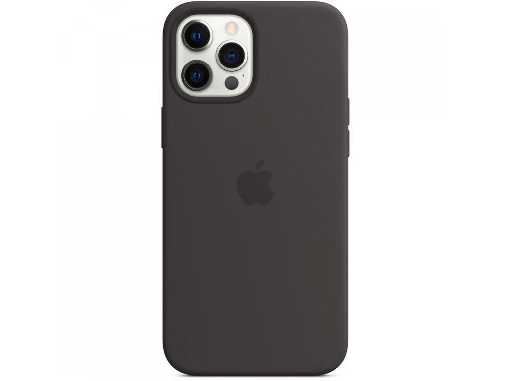 Kryt na mobil Apple Silicone Case s MagSafe pro iPhone 12 Pro Max - černý