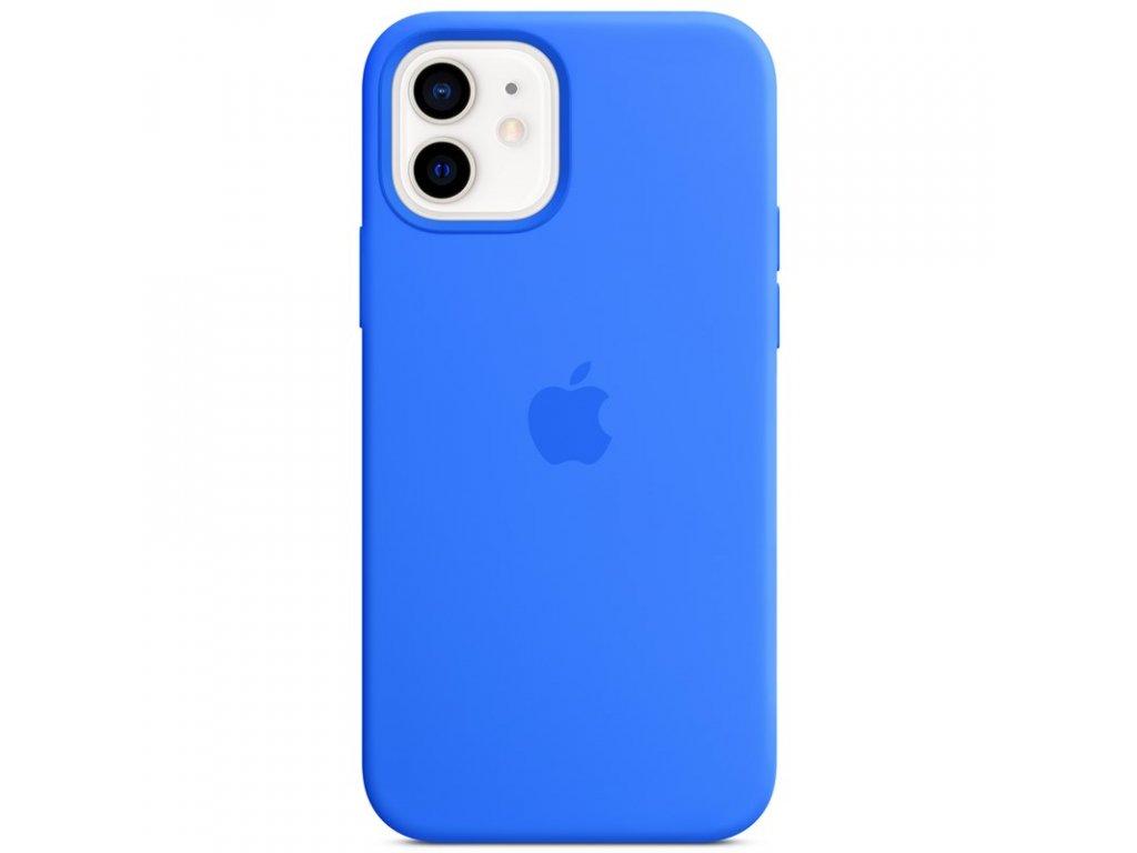 Kryt na mobil Apple Silicone Case s MagSafe pro iPhone 12 mini - středomořsky modrý
