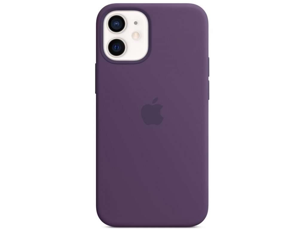 Kryt na mobil Apple Silicone Case s MagSafe pro iPhone 12 mini - ametystový