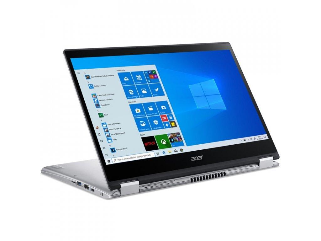 """Ntb Acer Spin 3 (SP314-54N-572R) i5-1035G4, 16GB, 1024 GB, 14"""", Full HD, bez mechaniky, Intel Iris Plus Graphics, BT, CAM, W10 Home - stříbrný"""