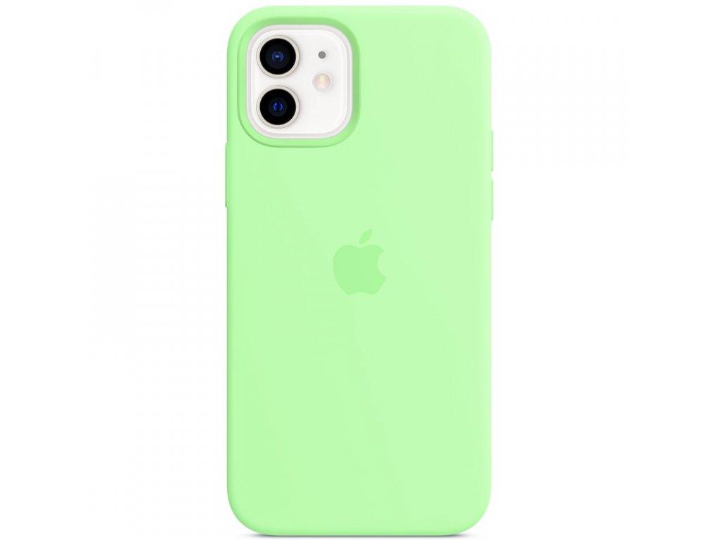 Kryt na mobil Apple Silicone Case s MagSafe pro iPhone 12 a 12 Pro - pistáciový