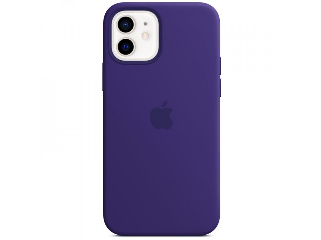 Kryt na mobil Apple Silicone Case s MagSafe pro iPhone 12 a 12 Pro - ametystový