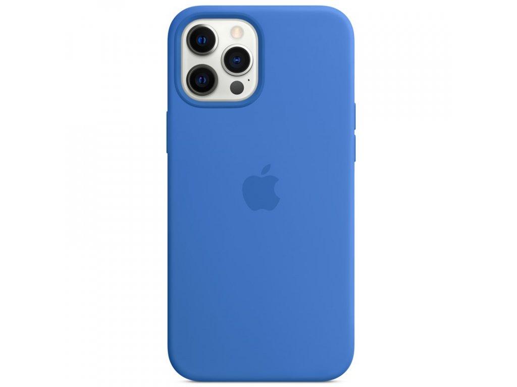 Kryt na mobil Apple Silicone Case s MagSafe pro iPhone 12 Pro Max - středomořsky modrý