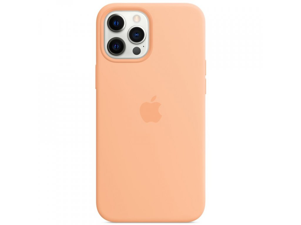 Kryt na mobil Apple Silicone Case s MagSafe pro iPhone 12 Pro Max - melounově oranžový