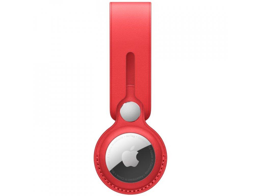 Apple AirTag kožené poutko - (PRODUCT)RED