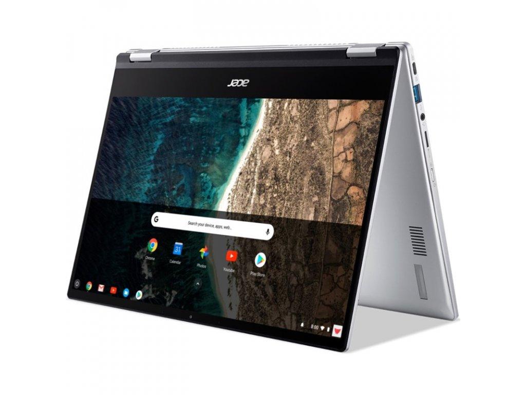 """Ntb Acer Chromebook Spin 514 (CP514-1H) R3-3250C, 14"""", Full HD, RAM 4GB, SSD 128GB, bez mechaniky, AMD Radeon Graphics, Chrome OS - stříbrný"""