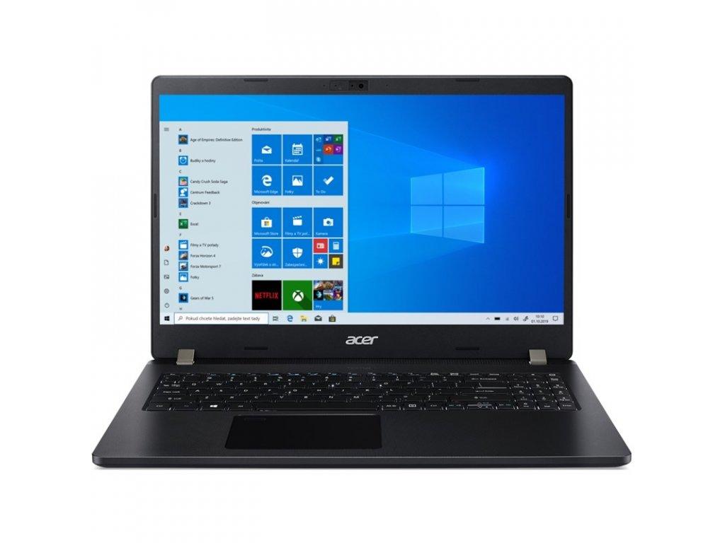 Ntb Acer TravelMate P2 TMP215-53 i3-1115G4, 256GB, Full HD, bez mechaniky, Intel UHD Graphics, BT, FPR, CAM, Win10 Pro - černý