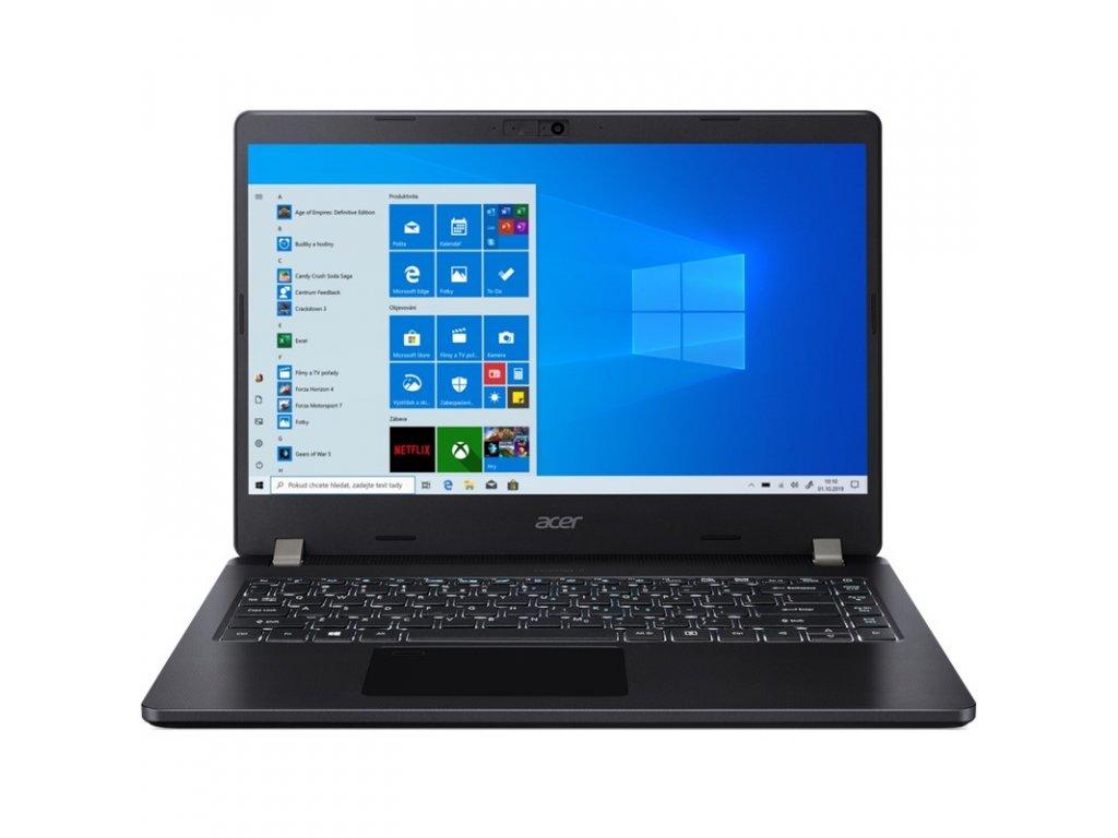 """Ntb Acer TravelMate P2 (TMP214-53-55L4) i5-1135G7, 8GB, 512GB, 14"""", Full HD, bez mechaniky, Intel Iris Xe, BT, FPR, CAM, Win10 Pro - černý"""