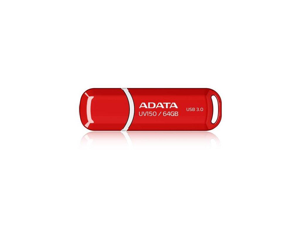 Flash USB ADATA UV150 64GB USB 3.2 - červený