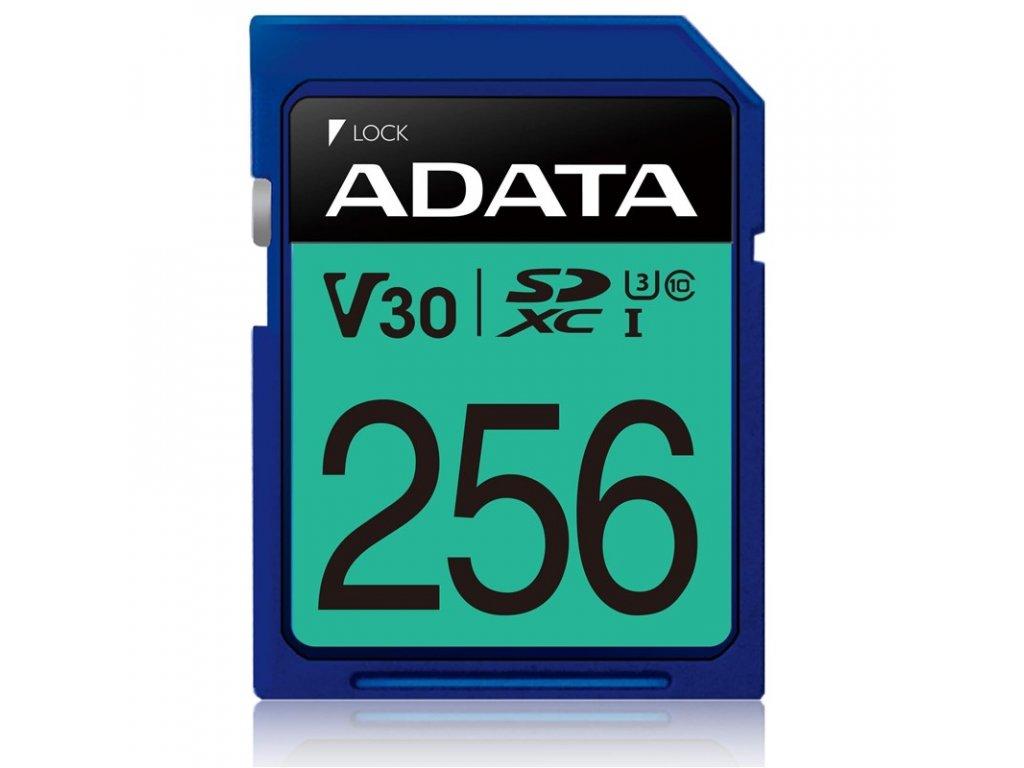 Paměťová karta ADATA Premier Pro SDXC 256GB UHS-I U3 (95R/60W)