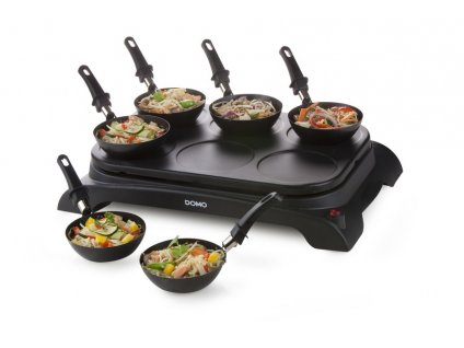 Elektrický lívanečník s wok pánvemi - DOMO DO8710W