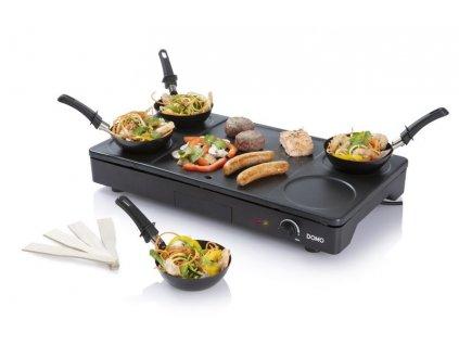 Elektrický lívanečník a gril s wok pánvemi - DOMO DO8712W
