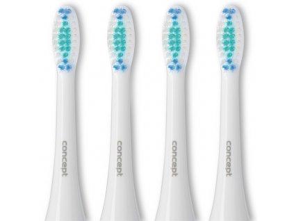 Náhradní hlavice Concept ZK0001 Perfect Smile k zubním kartáčkům ZK4000, ZK4010, ZK4030, ZK4040, Daily Clean, 4 ks