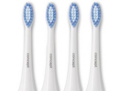 Náhradní hlavice Concept ZK0002 Perfect Smile k zubním kartáčkům ZK4000, ZK4010, ZK4030, ZK4040, Soft Clean, 4 ks