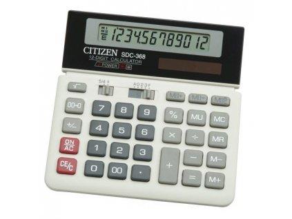 Kalkulačka Citizen SDC-368 - černá/bílá