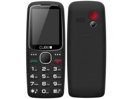 Mobilní telefon CUBE 1 S300 Senior - černý