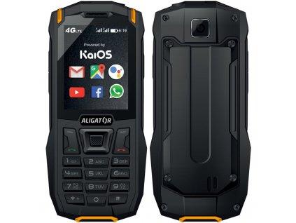 Mobilní telefon Aligator K50 eXtremo - černý/oranžový