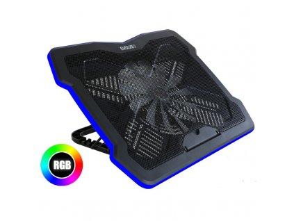 """Chladící podložka pro notebooky Evolveo Ania 6 RGB pro 10"""" - 17"""" - černý"""