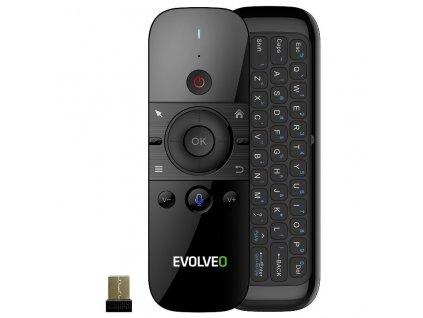 Dálkový ovladač Evolveo FlyMotion D1, bezdrátová gyroskopická myš s klávesnicí