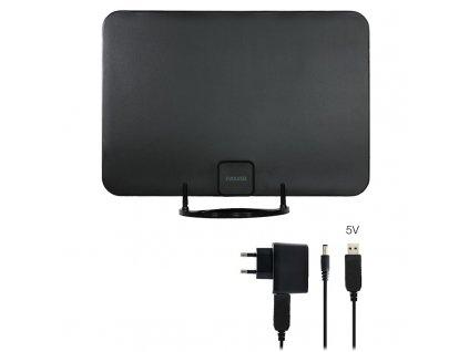 Anténa pokojová Evolveo Xany 2A LTE 230/5V, 45dBi aktivní pokojová DVB-T/T2, LTE filtr