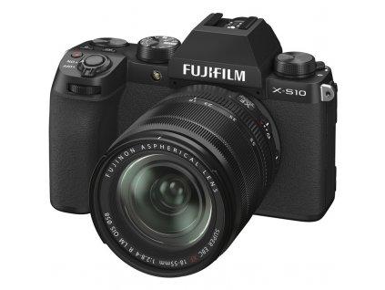 CSC fotoaparát FujiFilm X-S10 + XF18-55, černý