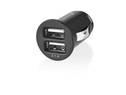Adaptér do auta GoGEN CH 21, 2x USB - černý