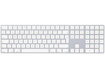 Klávesnice Apple Magic s numerickou klávesnicí - Czech - bílá