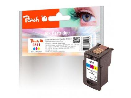 Inkoustová náplň Peach Canon CL-511,385 stran, kompatibilní - CMY