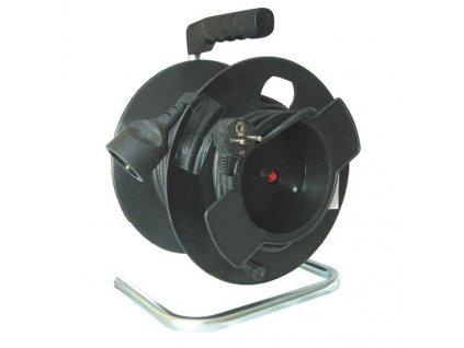 Kabel prodlužovací na bubnu Solight 1 zásuvka, 25m, 3x 1,5mm2 - černý