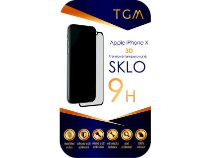 Tvrzené sklo TGM 3D na Apple iPhone X/Xs/11 Pro - černé