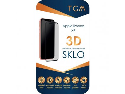 Tvrzené sklo TGM 3D na Apple iPhone XR/11 - černé