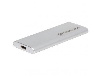 Box na HDD Transcend CM42 externí SSD rámeček, M.2 SATA SSD typ 2242, USB 3.0/USB-C - stříbrný
