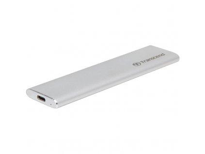 Box na HDD Transcend CM80 externí SSD rámeček, M.2 SATA SSD typ 2242/2260/2280, USB 3.0/USB-C - stříbrný