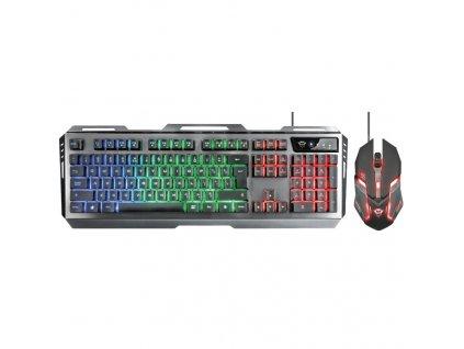 Klávesnice s myší Trust GXT 845 Tural Gaming Combo, US - černá