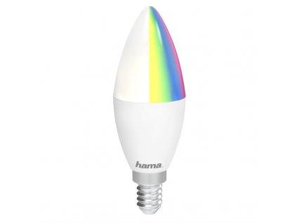 Chytrá žárovka Hama SMART WiFi LED, E14, 4,5 W, RGB, stmívatelná