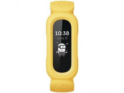 Fitness náramek Fitbit Ace 3 Minions Edition - černá/žlutá
