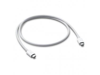 Kabel Apple Thunderbolt 3, USB-C, 0,8 m, (MQ4H2ZM/A) - bílý