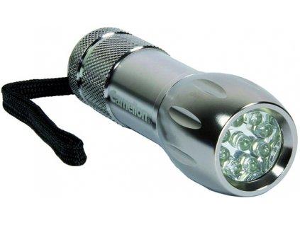 Svítilna Camelion CT40044, kovová, 9x LED, mix barev (černá, stříbrná)