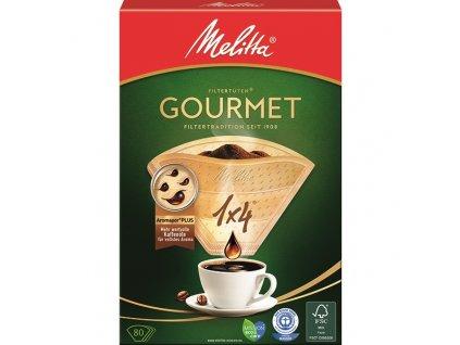 Filtr do kávovaru Melitta Gourmet 1x4 80 ks