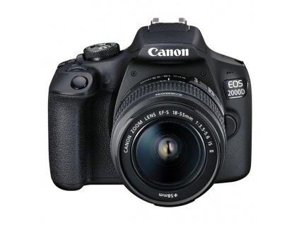 Zrcadlovka Canon EOS 2000D + 18-55 IS II + obj. 50 f/1.8