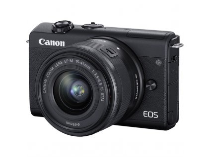 CSC fotoaparát Canon EOS M200 + EF-M 15-45 IS STM, černý