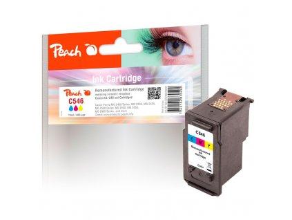 Inkoustová náplň Peach Canon CL-546, 10 ml kompatibilní CMY