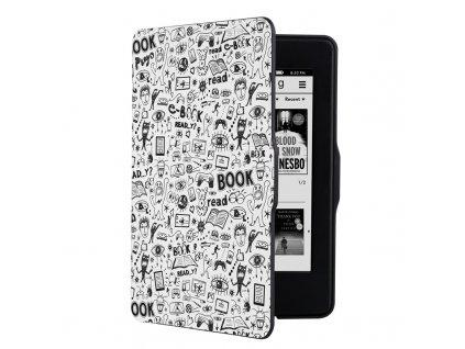 Pouzdro pro čtečku e-knih Connect IT Doodle pro Amazon Kindle Paperwhite 1/2/3 - bílé