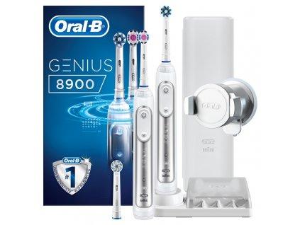 Set zubních kartáčků Oral-B Genius 8900 CrossAction + Bonusová rukojeť