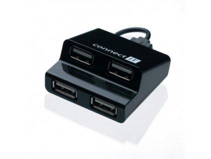 USB Hub Connect IT USB 2.0 / 4x USB 2.0 - černý
