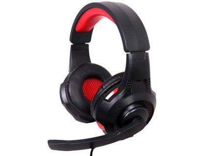 Headset Gembird GHS-U-5.1-01, 5.1 surround - černý/červený
