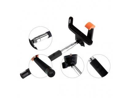 Selfie tyč GoGEN 2 teleskopická, bluetooth černá